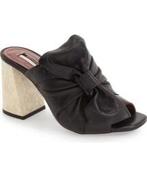 Topshop「Topshop 'Prosecco' Square Toe Mule (Women)(Sandals)」