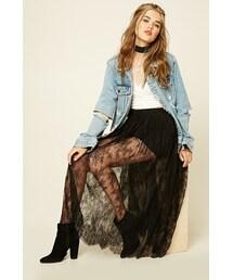 Forever 21「FOREVER 21 Floral Lace Maxi Skirt(Skirt)」