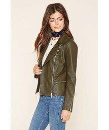 Forever 21「FOREVER 21 Faux Leather Moto Jacket(Riders jacket)」