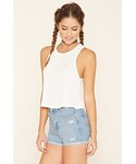 Forever 21 | FOREVER 21 Semi-Sheer Ribbed Knit Top(Tank tops)