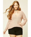 Forever 21「FOREVER 21+ Plus Size V-Neck Sweater(Knitwear)」