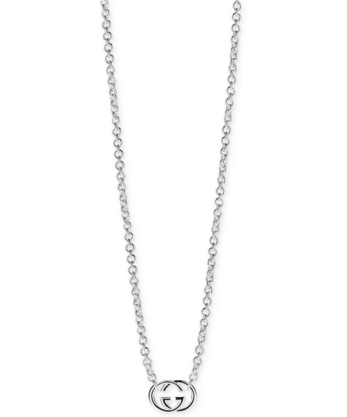 Guccigucci womens sterling silver pendant necklace gucci womens sterling silver pendant necklace ybb19048900100u mozeypictures Choice Image