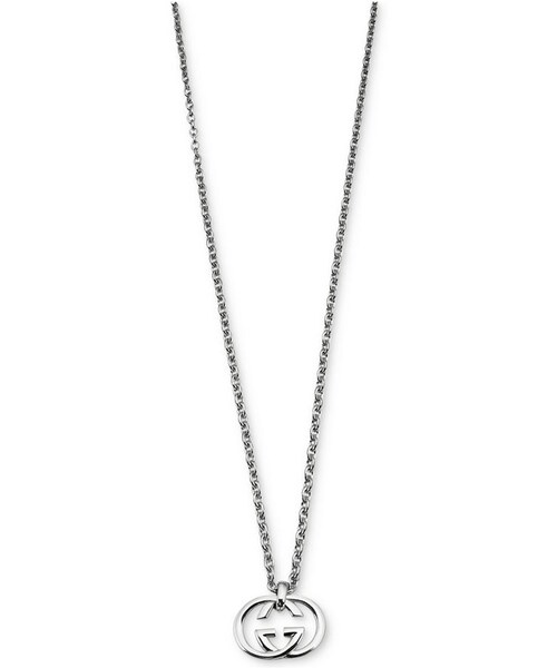 Guccigucci womens sterling silver pendant necklace gucci womens sterling silver pendant necklace ybb19048400100u mozeypictures Choice Image