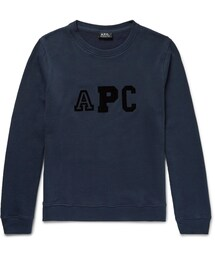 A.P.C.「A.P.C. Flocked Fleece-Back Cotton-Blend Sweatshirt(Sweatshirt)」