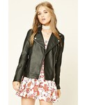 Forever 21 | FOREVER 21 Faux Leather Moto Jacket(Riders jacket)