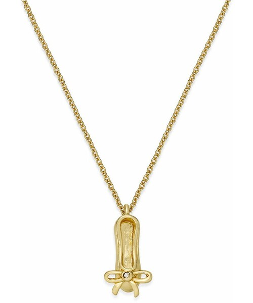 Kate spade kate spade new york gold tone crystal ballet kate spade new york gold tone crystal ballet slipper pendant necklace mozeypictures Images
