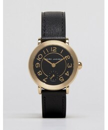 Marc Jacobs「Marc Jacobs Black Leather Riley Watch MJ1471(Watch)」