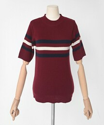 DHOLIC(ディーホリック)の「スリーラインニットTシャツ(Tシャツ・カットソー)」