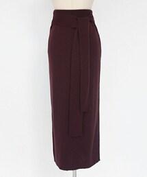 DHOLIC(ディーホリック)の「ウエストタイミラノリブニットスカート(スカート)」