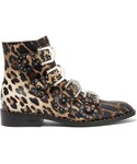 Givenchy | Givenchy - Studded Ankle Boots In Leopard-print Leather - Leopard print(Boots)