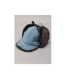 E hyphen world gallery(イーハイフンワールドギャラリー)の「M デニムキルティングフライト帽(帽子)」