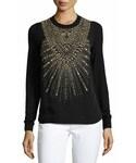 Ralph Lauren「Ralph Lauren Collection Beaded & Studded Crewneck Sweater, Black(Knitwear)」