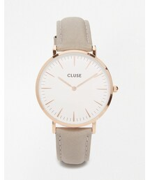 Cluse「Cluse La Boheme Rose Gold & Gray Leather Watch CL18015(Watch)」