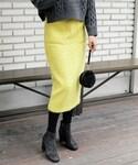 DHOLIC | ウール混フロントポケットペンシルスカート(スカート)