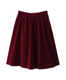 GRL(グレイル)の「ベロアギャザーフレアスカート(スカート)」