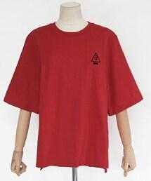 DHOLIC(ディーホリック)の「ROSE刺繍ウォッシュドTシャツ(Tシャツ・カットソー)」