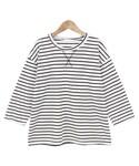 Dailyabout(デイリーアバウト)の「ベーシックボーダー7分袖Tシャツ(P0000WRC)(Tシャツ・カットソー)」