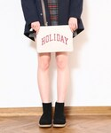holiday | 【予約商品】COLLEGE CLUCH BAG()