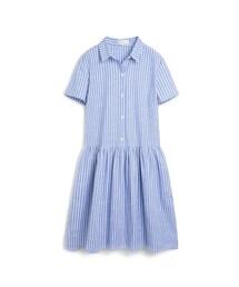 PAZZO「日系輕甜寬鬆感直條紋洋裝(Dress)」
