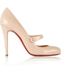 Christian Louboutin「Christian Louboutin Charleen 100 patent-leather Mary Jane pumps(Pumps)」