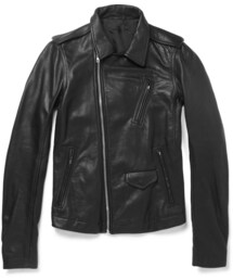 Rick Owens「Rick Owens Slim-Fit Leather Biker Jacket(Riders jacket)」