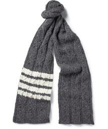 Thom Browne「Thom Browne Wool and Mohair-Blend Scarf(Gloves)」