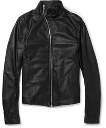 Rick Owens「Rick Owens Slim-Fit Leather Bomber Jacket(Riders jacket)」
