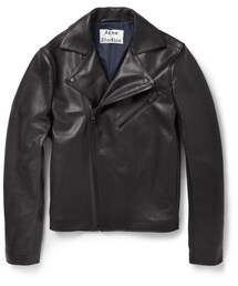 Acne Studios「Acne Studios Gibson Slim-Fit Leather Biker Jacket(Riders jacket)」