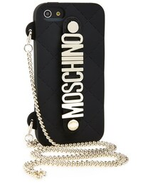 Moschino(モスキーノ)の「Moschino 'Letters' Crossbody iPhone 5 Case on a Chain(生活家電/PCグッズ)」