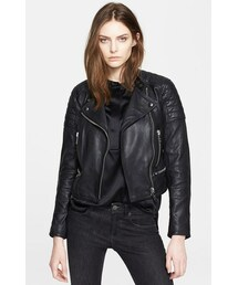 Burberry「Burberry Brit 'Kirtslane' Lambskin Leather Jacket(Riders jacket)」