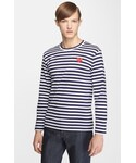 Comme des Garcons | Comme des Garçons 'Play' Stripe Long Sleeve Crewneck T-Shirt(T Shirts)