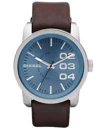 Diesel「DIESEL® 'Franchise' Leather Strap Watch, 46mm(Watch)」