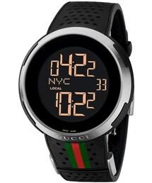 Gucci「Gucci 'I Gucci' Rubber Strap Watch, 49mm(Watch)」