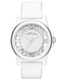 Marc by Marc Jacobs「MARC BY MARC JACOBS 'Henry Skeleton' Silicone Strap Watch, 41mm(Watch)」