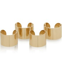 Maison Martin Margiela「Maison Martin Margiela Set of four gold-tone rings(Ring)」