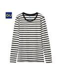 GU | (GU)ボーダークルーネックT(長袖)(WOMEN⁄カットソー(Tシャツ))