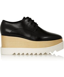 Stella McCartney「Stella McCartney Faux glossed-leather platform brogues(Other Shoes)」