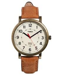 Timex「Timex Watch Originals Classic Round Leather Strap T2P220 - Brown(Watch)」