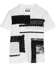 Junya Watanabe「Junya Watanabe + Comme des Garçons embellished cotton-jersey T-shirt(Shirts)」