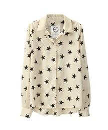 GraceGift(グレースギフト)の「滿滿星星 韓國印花雪紡襯衫(その他)」