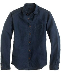 J.Crew「Slim indigo club-collar shirt(Shirts)」