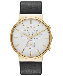 Skagen「Skagen 'Ancher' Chronograph Leather Strap Watch, 40mm(Watch)」