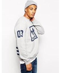 adidas「Adidas Originals 3Foil Crew Sweatshirt - Gray(Sweatshirt)」
