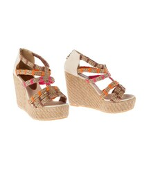Ondademar「BRAIDED STRAPPY WEDGE SANDALS(Sandals)」