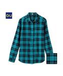 GU   (GU)チェックシャツ(レギュラー・長袖)D(WOMEN⁄シャツ・ブラウス)