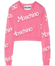 Moschino「Moschino Cropped intarsia cotton sweater(Knitwear)」