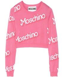 Moschino(モスキーノ)の「Moschino Cropped intarsia cotton sweater(ニット・セーター)」