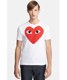 Comme des Garcons(コムデギャルソン)の「Comme des Garçons 'Play' Heart Face Graphic T-Shirt(Tシャツ・カットソー)」