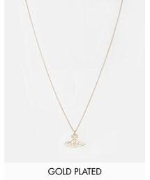 Vivienne Westwood「Vivienne Westwood Thin Flat Lines Orb Pendant Necklace - Gold(Necklace)」