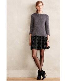 Anthropologie「Moth Jacquard Knit Skater Skirt(Skirt)」